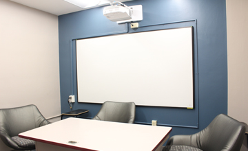 Group Study Rooms with Projector & White Board