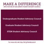 Make a difference and join the FSU Libraries Student Advisory Council