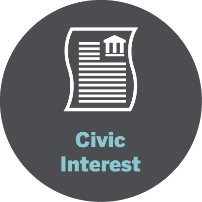 Civic interest icon