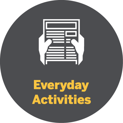 Everyday activities icon