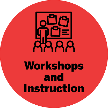 Workshops and instructions icon