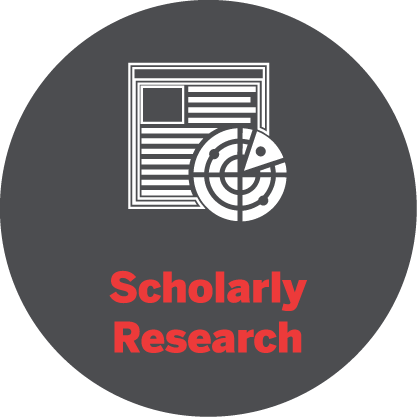Scholarly research icon