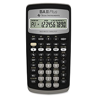 Front view of financial calculator